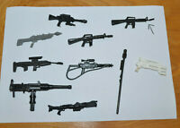 VINTAGE GI JOE & MODERN WEAPONS GUNS ACCESSORIES LOT ARAH 3.75""
