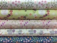 Lewis and Irene Bunny Garden collection by the Fat Quarter,Half Metre and Metre