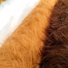 "Plain Faux Fur 75mm Long Pile ideal for clothing, pet beds 58"" Wide Mtex MT931"