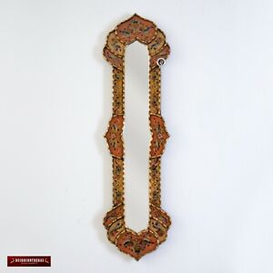 Long Narrow rectangular wall mirror, Painting on glass Long Mirror wall decor