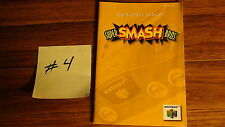 Smash Bros Brothers - Instruction Booklet for Nintendo 64 N64 - Manual ONLY #4