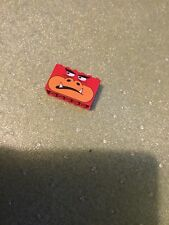 Lego 2x6x3 Red with Monster Face