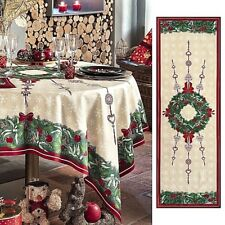 """BEAUVILLE, JOUR DE FÊTE FRENCH HOLIDAY TABLE RUNNER, 20"""" X 59"""", NEW IN BOX"""