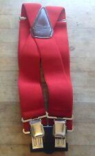 "Carthartt Red Suspenders 46"" Adjustable New"