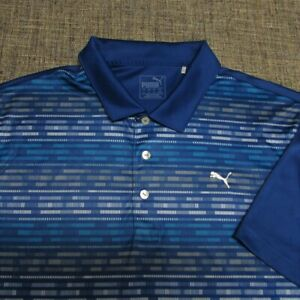PUMA POLY GOLF SHIRT--L--WRINKLE FREE--EXCEPTIONAL COLORS & QUALITY