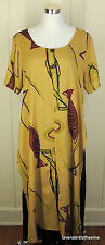 Global Illusion L Rayon Polyester Tunic Long Dress Ethnic Artsy