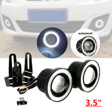 "3.5"" LED Car SUV Fog Light White Angel Eye Standlichtringe Driving Lamp 12V Bulb"