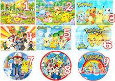 Cialda - Ostia per torte Pokemon Anche personalizzabile o tonda Anche A3