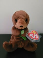 Ty Beanie Baby Seaweed Retired Rare! 1996 Tag Errors Protector Near Mint Otter