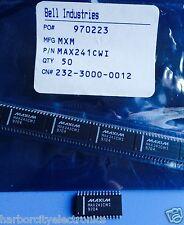 MAX241CWI MAXIM IC 4DVR/5RCVR RS232 5V 28 PIN SOIC LINE TRANSCEIVER