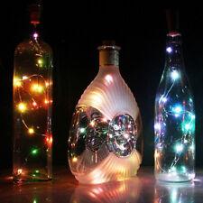 Nice 20LED Chic Cork Shaped Night Light Starry Wine Bottle Lamp For Xmas Decor