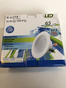 """NEW K-Lite - 4"""" LED Technology 65W=11W Dimmable Retrofit Recessed Can Fixture"""