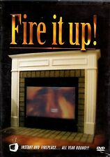 FIRE IT UP! VIRTUAL CHRISTMAS FIREPLACE DVD w/INSTRUMENTAL PIANO & GUITAR MUSIC!
