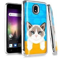 CHROME BRUSHED Case For Samsung Galaxy Phone Cover Cute Cat Rag Doll