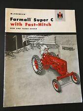 Mccormick Farmall Super C Ih Brochure Tractor International Harvester Cr 501 C