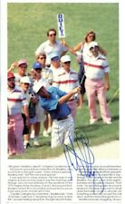 Lanny Wadkins Signed Photo Book Page 5x8 Autographed PGA Golf 36216