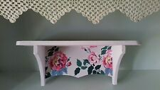 WOODEN WALL STORAGE SHELF MADE WITH CATH KIDSTON ROSES DESIGN BATHROOM BEDROOM
