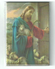 "Jesus, The Good Shepherd, Fridge Magnet - 3"" x 2"", Made in Italy"