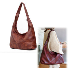 Women Retro Hobo Bags Shoulder Bags Casual Fashion 2019 Soft Large Faux Leather