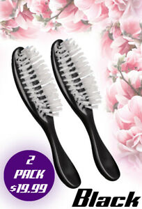 """((2-PACK)) BLACK AVON HAIR BRUSH FLAIR 8"""" NEW - FROM MEXICO((2-PACK))"""