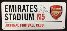 Ian WRIGHT Signed Arsenal Autograph Emirates Stadium Metal Street Sign AFTAL COA