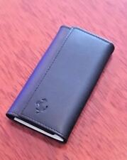 Vintage Top Grain Leather Ferrari Key Ring Case Pouch Black NIB NEW