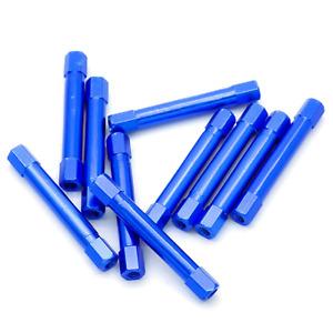 10pcs M3x37mm Aluminum Spacer Standoff (Anodized Blue)
