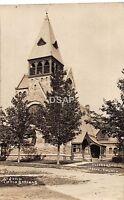 New York NY Real Photo RPPC Postcard c1910 CLIFTON SPRINGS St John's Church