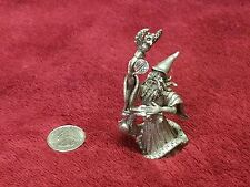 "3 1/2"" Pewter Wizard Figurine"