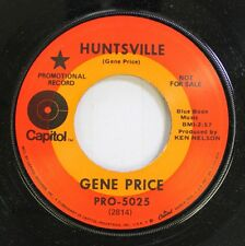 Country Promo Nm! 45 Gene Price - Huntsville / One World Man On Capitol Records