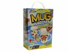 Paint Your Own Two Mugs Set Ceramic Cup Makeover Kit With Paints & Brush 16-6561