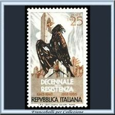 1954 Italia Repubblica Decennale Resistenza n. 739 **