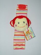 RUSS Berrie Monkey Baby Unisex Wrist Rattle Soft Plush Toy/Shower Gift-Small