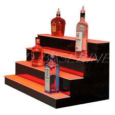 """40"""" LED BAR SHELVES, Four Steps, Lighted Bar Shelf, Liquor Bottle Display Rack"""