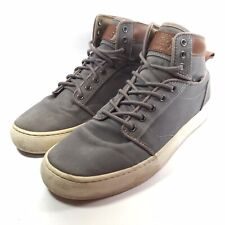 Vans Alomar Olive Canvas High Top Lace Up Skate Shoes US Mens 9 Womens 10.5