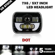 """Newest Brightest 120W 7X6"""" 5X7"""" LED Headlight DRL For Chevrolet Jeep Cherokee XJ"""