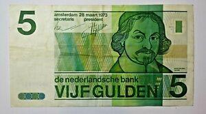 NETHERLANDS    FIVE GULDEN 1973.