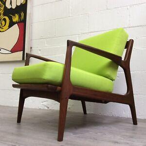 Danish teak Lounge Chair in the manner of Kofed Larsen  mid century vintage