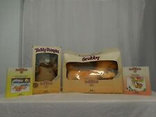 Teddy Ruxpin + Grubby original from early in Original Boxes +  Books + Cord