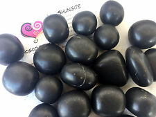 *ONE* Shungite Matte Tumbled Stone 25-30mm QTY1 Healing Crystal Purifies Cleans