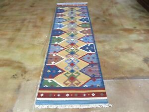 Classic World Rugs Hand-Woven Reversible Kilim Wool (Size 2.7 X 9.10) Brrsf-1473