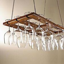 MahoganyWine Glass Rack Classic Barware Bar Tools and Equipment Accessories