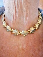 "Authentic Vintage 1950's Gold Tone ""Jaycraft"" Stylized Link Necklace 15"""