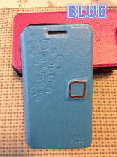 Samsung Galaxy S4 Active Slim Wallet Flip stand Cover Case card slot BLUE