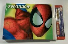 Marvel Hallmark Spiderman Superhero Thank You Cards Blank Note Cards Super-Man