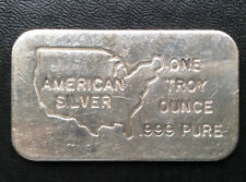 American Silver Commercial Silver Art Bar A1945