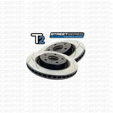 DBA T2 multi PCD front performance SLOTTED brake discs fits Subaru Impreza STI