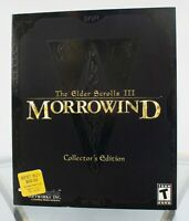 The Elder Scrolls III: Morrowind Collectors Edition PC 2002 Big Box Rare