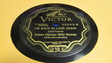 AILEEN STANLEY VICTOR 78 RPM RECORD 20643 I'M BACK IN LOVE AGAIN