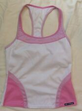 """Louis Garneau Comp Sleeveless Top """" Airlite"""" White Pink Women's Size Small Nwot"""